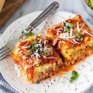 Spinach + Artichoke Lasagna Roll Ups