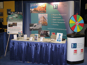 Photo: Mediate Management Company's booth at trade show.