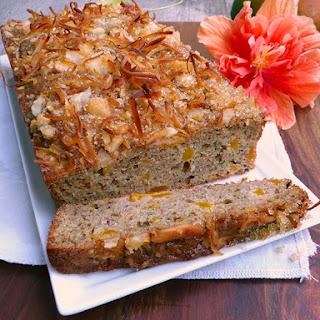 Coconut Mango Macadamia Zucchini Bread