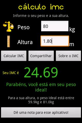 Cálculo IMC screenshot 2