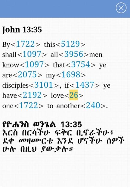Iota Amharic Bible- screenshot