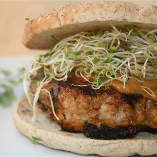 Turkey Burgers with Peanut Sauce