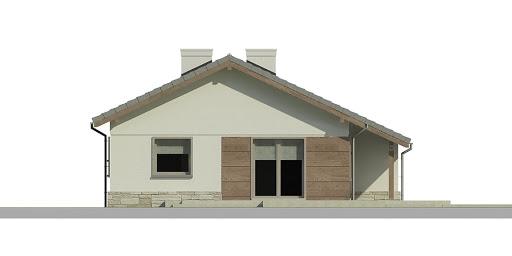 Dom przy Przyjemnej 6 bis - Elewacja lewa