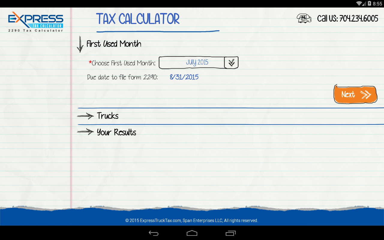 Form 2290 hvut tax calculator android apps on google play form 2290 hvut tax calculator screenshot falaconquin