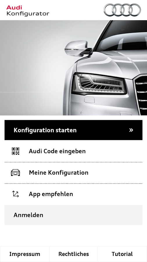 audi konfigurator deutschland android apps on google play. Black Bedroom Furniture Sets. Home Design Ideas