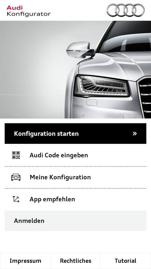 audi konfigurator deutschland android apps on google play. Black Bedroom Furniture Sets. Home Design Ideas