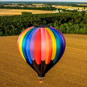 flying low by Diane Davis - Sports & Fitness Other Sports ( hot air balloons )