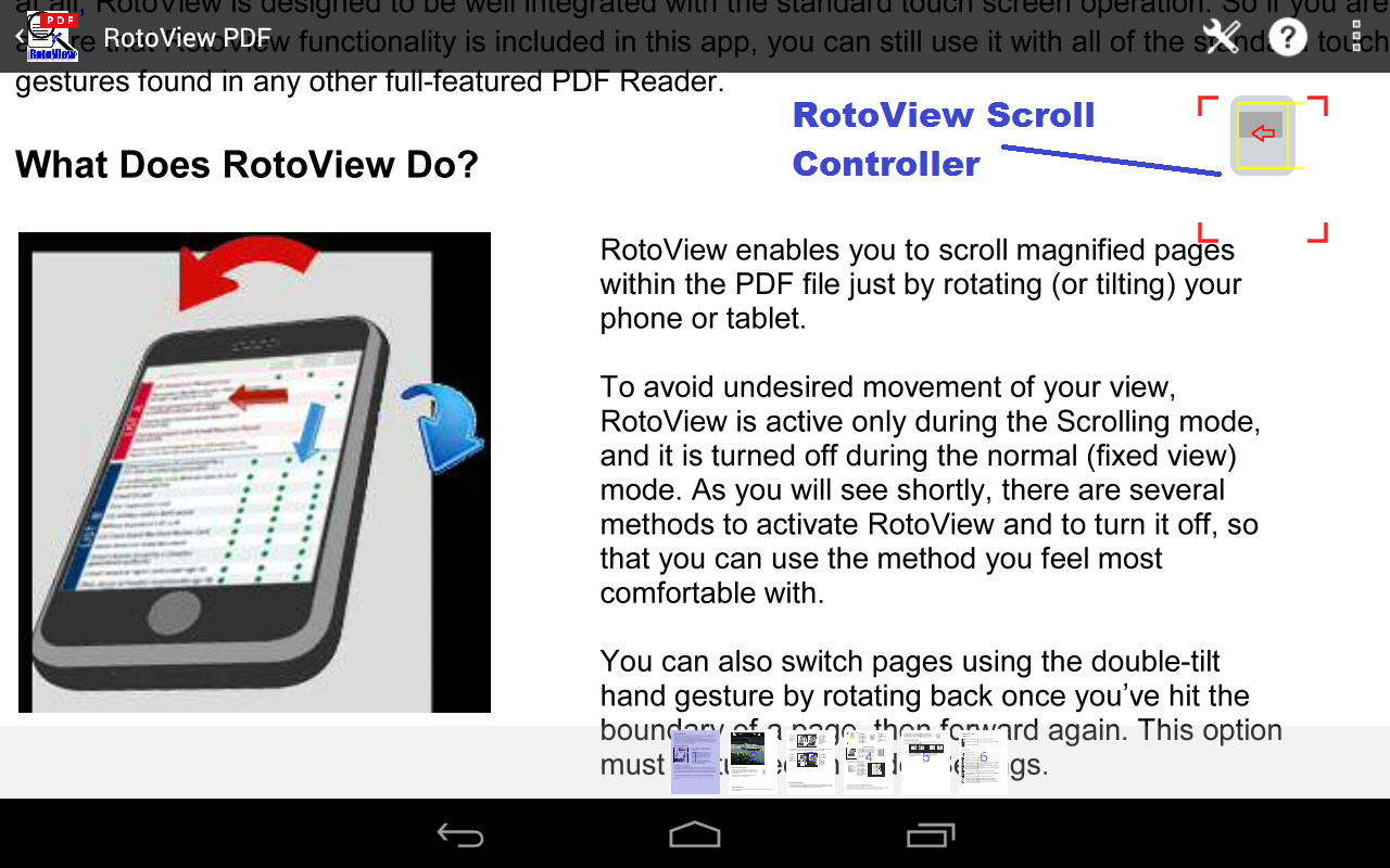 RotoView PDF Reader- screenshot