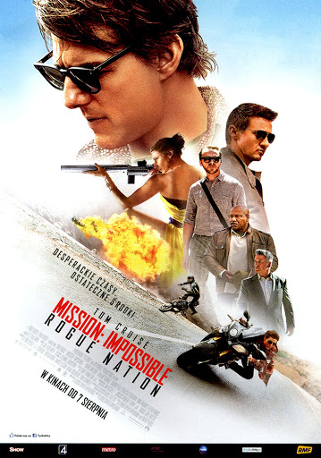 Przód ulotki filmu 'Mission: Impossible - Rogue Nation'