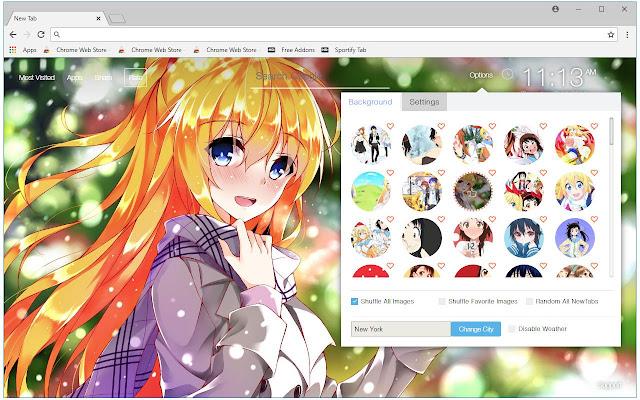 Nisekoi Wallpaper Anime New Tab freeaddon.com