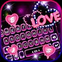 Neon Love Keyboard Theme icon