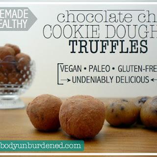 "Homemade & Healthy ""Cookie Dough"" Truffles"