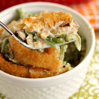 How to Make Green Bean Casserole with Onion Rings Lunch