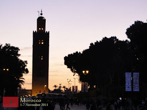 Photo: the beautiful Koutoubia Mosque at dusk