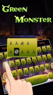 Green Monster Theme&Emoji Keyboard - náhled