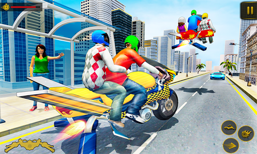 Flying Hover Bike Taxi Driver : Taxi Simulator screenshots 3