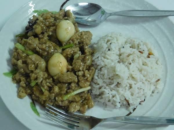 Asadong Pork Giniling With Quail Eggs & Mushrooms Recipe