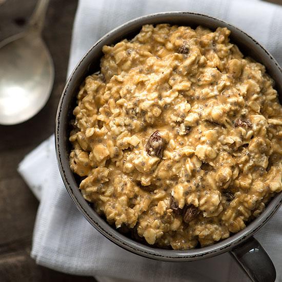 Healthy Breakfast Pumpkin Spice Overnight Oats Recipe