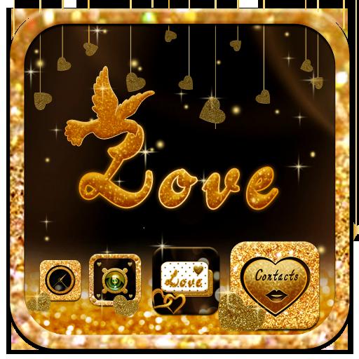 金色星星華爲P9/華爲榮耀主題 金色星星鑽石主題壁紙 個人化 App LOGO-硬是要APP