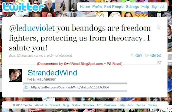 Photo: http://twitter.com/StrandedWind/25163373084  To a member of his militant social media attack group