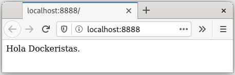 Figura 5 - nginx ejecutado mensaje personalizado vía Docker