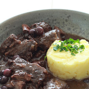 Wild Boar Stew with Blueberries