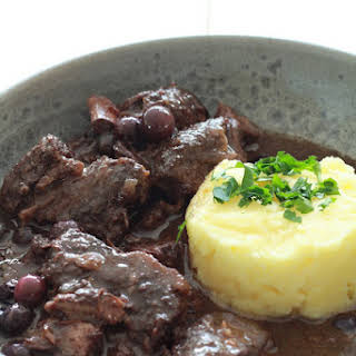 Wild Boar Stew with Blueberries.