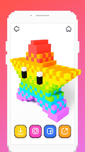 Voxel - 3D Color by Number & Pixel Coloring Book 2.4 screenshots 8