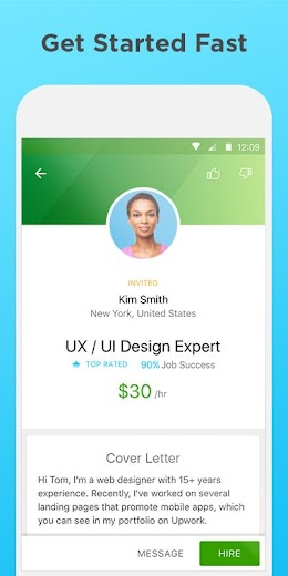 Screenshot 3 for Upwork's Android app'