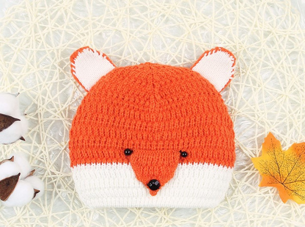 Baby Unisex Cute Fox Knitted Hat