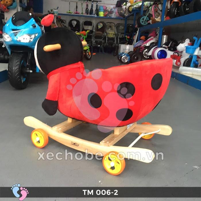 Thú bập bênh cho bé TM006-2 có bánh xe 7