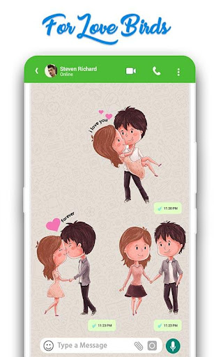 WAStickerApps: Romantic Love Stickers for whatsapp 22.1 screenshots 2