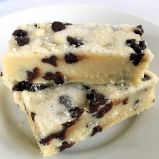 Chocolate Chip Shortbread Cookie Bars.