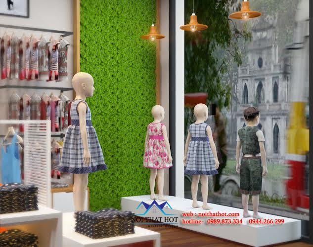 Thiết kế cửa hàng thời trang trẻ em độc đáo và ấn tượng