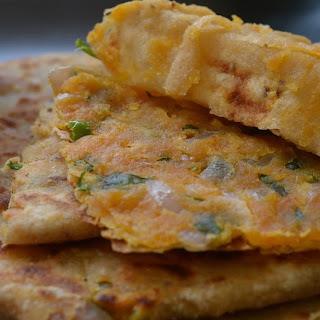 Malai Besani Paratha (Cream stuffed bread)