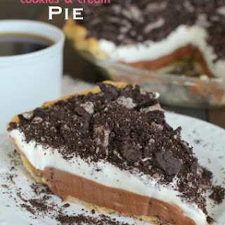 Nutella Cookies and Cream Pie