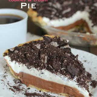 Nutella Cookies and Cream Pie.