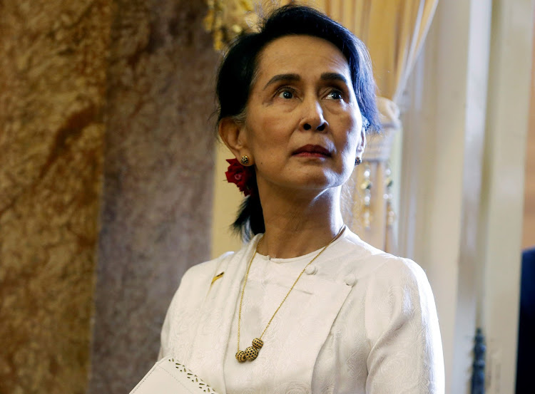 Myanmar State Counsellor Aung San Suu Kyi waits for a meeting with Vietnamese President Tran Dai Quang at the Presidential Palace during the World Economic Forum on Asean in Hanoi, Vietnam, on September 13 2018. Picture: REUTERS/KHAM/POOL