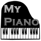 Teclado piano real icon