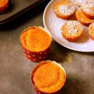 Eggless Whole Wheat Orange Cupcake.