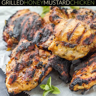 Mediterranean Grilled Honey Mustard Chicken