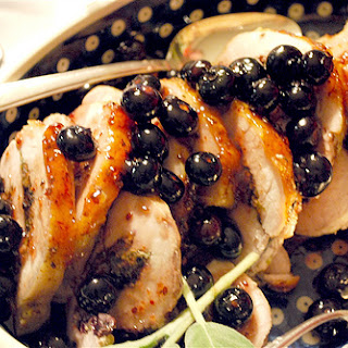 Blueberry Stuffed Pork