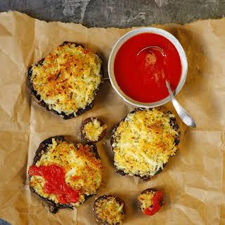 Cheesy, Crispy Pizza Portobello Mushrooms.