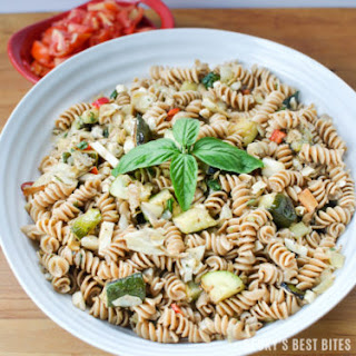 Mediterranean Pasta Salad with Summer Fresh Vegetables