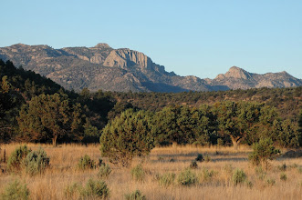 Photo: The view of Mount Livermore -- the highest point in the Davis Mountains -- from our cabin.