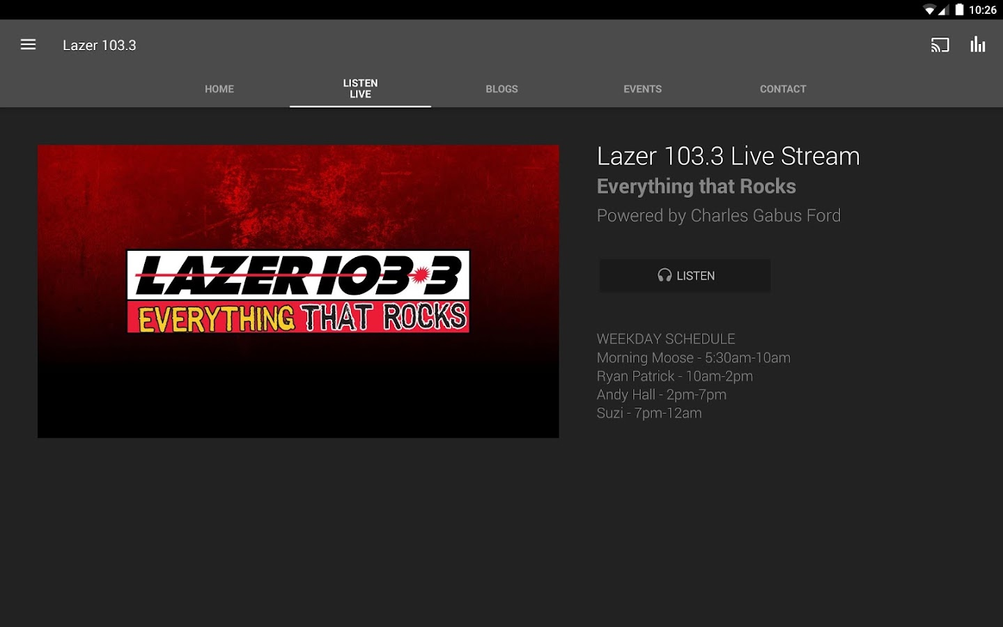 Lazer 103.3- screenshot