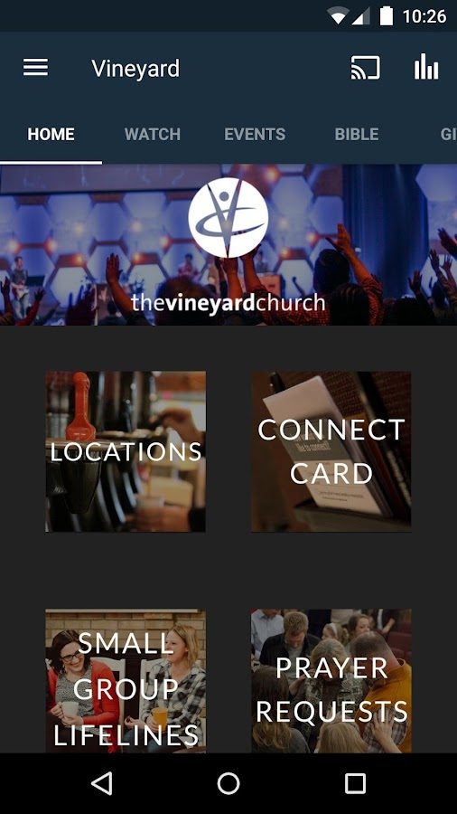 Vineyard Church of Central IL- screenshot