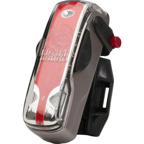 Light and Motion Vis 180 Rechargeable Taillight: Silver Moon