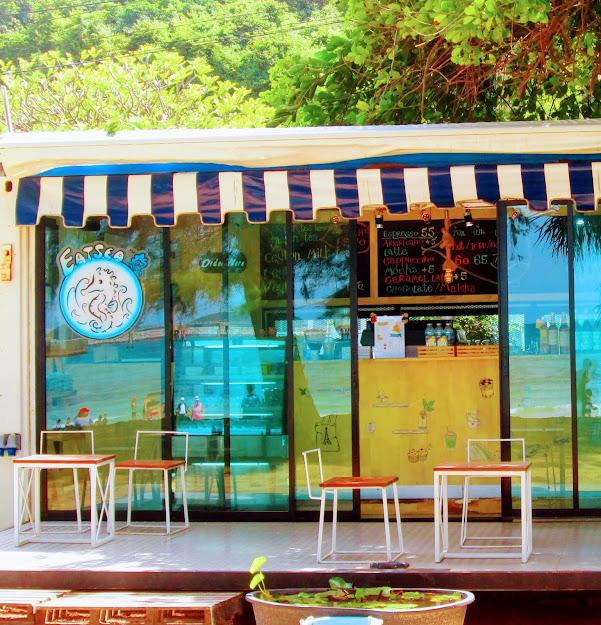 パタヤの思い出画像サタヒップビーチの喫茶店
