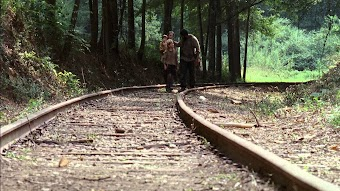 Neben dem Gleis